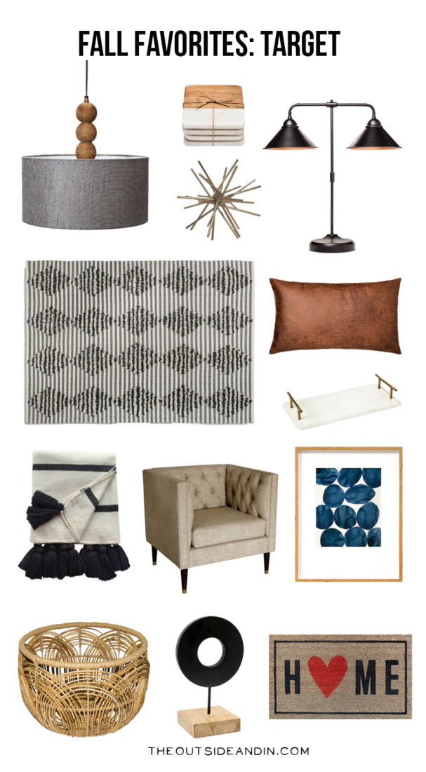 Target fall favorites the outside inthe outside in Target fall home decor